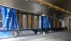 Logística integral Berrio rep el primer mega-camió de bobines de paper al seu magatzem de València